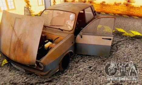 Dacia 1310 MLS Rusty Edition 1988 pour GTA San Andreas vue intérieure