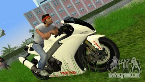 Aprilia RSV4 2009 White Edition II pour GTA Vice City sur la vue arrière gauche