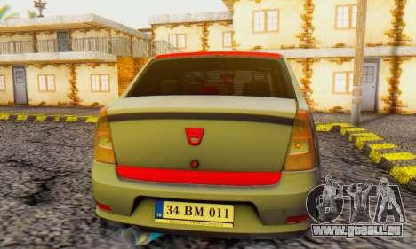 Dacia Logan Turkey Tuning für GTA San Andreas rechten Ansicht