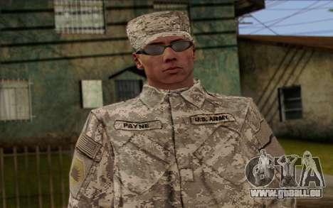 California National Guard Skin 4 pour GTA San Andreas troisième écran
