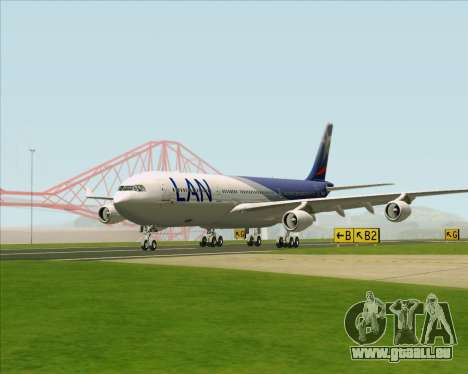 Airbus A340-313 LAN Airlines für GTA San Andreas Innenansicht