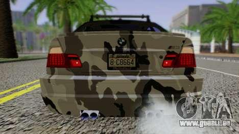 BMW M3 E46 Coupe 2005 Hellaflush v2.0 pour GTA San Andreas vue de droite