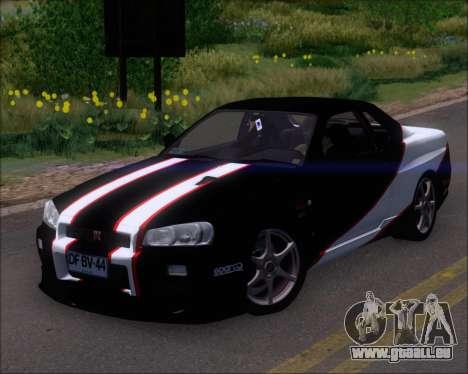 Nissan Skyline GT-R R34 V-Spec II für GTA San Andreas Motor
