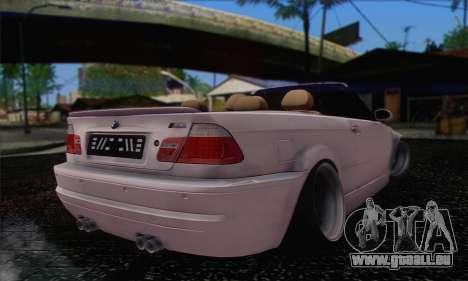 BMW M3 Cabrio pour GTA San Andreas laissé vue