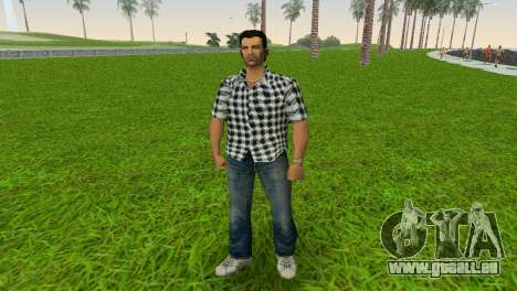 Kockas polo - fekete T-Shirt pour GTA Vice City