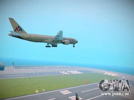 Boeing 777-223ER American Silver Bullet pour GTA San Andreas vue de droite