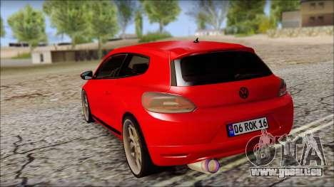 Volkswagen Scirocco Soft Tuning für GTA San Andreas zurück linke Ansicht