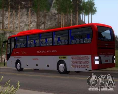 MAN Lion Coach Rural Tours 2790 für GTA San Andreas zurück linke Ansicht