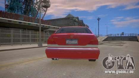 Mercedes-Benz S600 W140 für GTA 4 rechte Ansicht