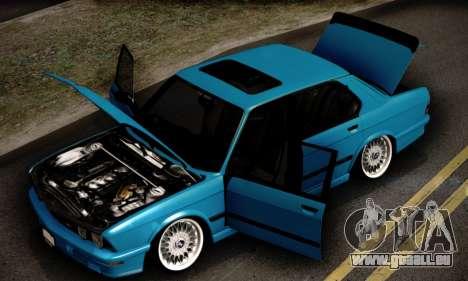 BMW M5 E28 pour GTA San Andreas vue de dessus