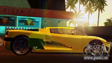 GTA 5 Entity XF pour GTA San Andreas sur la vue arrière gauche