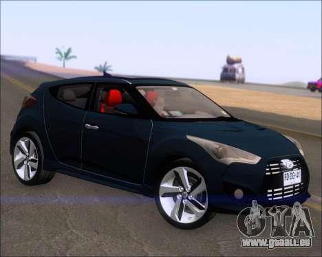 Hyundai Veloster 2013 für GTA San Andreas zurück linke Ansicht