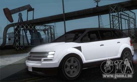 Vapid Radius 1.0 (IVF) pour GTA San Andreas sur la vue arrière gauche