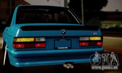 BMW M5 E28 pour GTA San Andreas vue intérieure