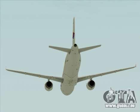 Airbus A321-231 Spanair für GTA San Andreas obere Ansicht