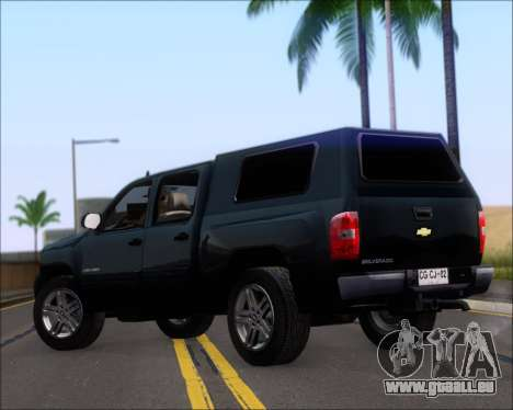 Chevrolet Silverado 2011 für GTA San Andreas zurück linke Ansicht