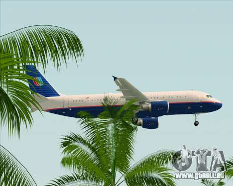 Airbus A320-232 United Airlines (Old Livery) pour GTA San Andreas vue de dessous