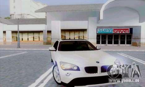 Bmw X1 pour GTA San Andreas sur la vue arrière gauche