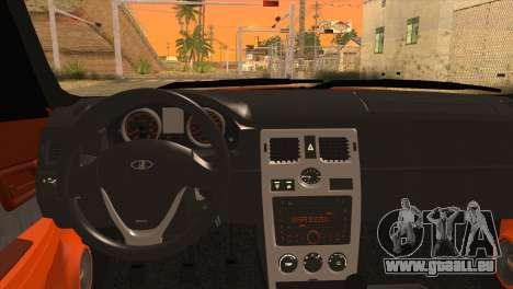 Installiert 2170 Priorin Orange für GTA San Andreas zurück linke Ansicht
