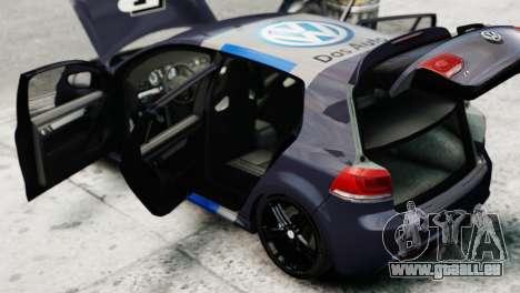 Volkswagen Golf R 2010 Polo WRC Style PJ2 pour GTA 4 Vue arrière