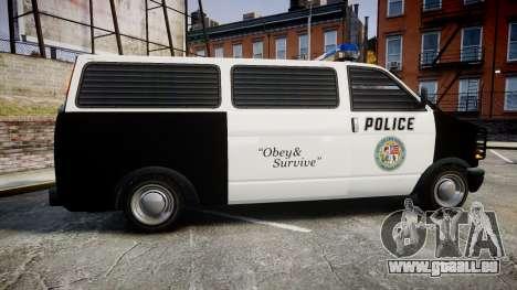 Declasse Burrito Police Transporter ROTORS [ELS] pour GTA 4 est une gauche