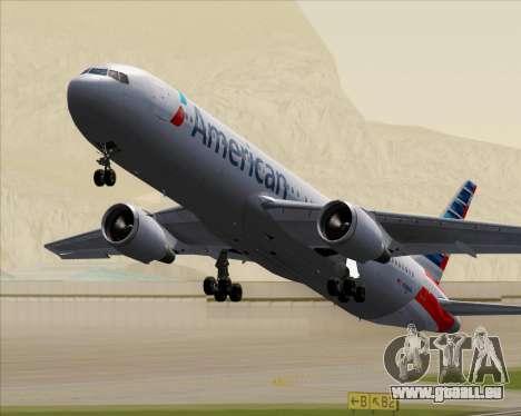 Boeing 767-323ER American Airlines pour GTA San Andreas vue de dessous