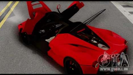 Ferrari LaFerrari 2014 (IVF) pour GTA San Andreas vue de droite
