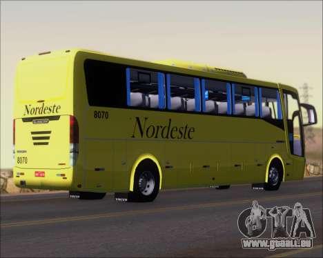 Busscar Elegance 360 Viacao Nordeste 8070 pour GTA San Andreas vue de droite