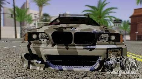 BMW M3 E46 Coupe 2005 Hellaflush v2.0 pour GTA San Andreas vue arrière
