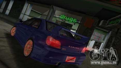 Subaru Impreza WRX 2002 Type 2 pour une vue GTA Vice City de la droite