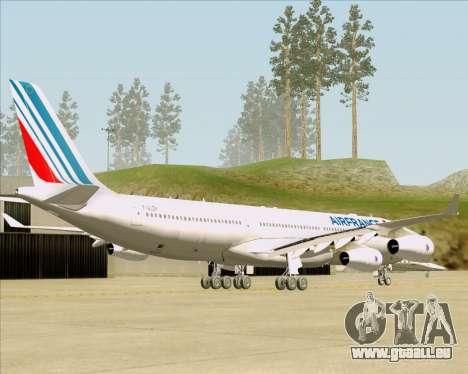 Airbus A340-313 Air France (New Livery) pour GTA San Andreas sur la vue arrière gauche