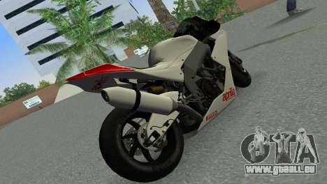 Aprilia RSV4 2009 Gray Edition pour GTA Vice City sur la vue arrière gauche