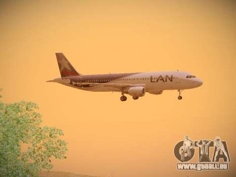 Airbus A320-214 LAN Airlines für GTA San Andreas Rückansicht