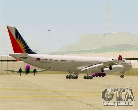 Airbus A340-313 Philippine Airlines für GTA San Andreas Rückansicht