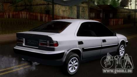 Citroen Xantia pour GTA San Andreas laissé vue