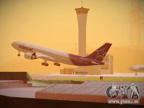 Airbus A330-200 Air Transat für GTA San Andreas zurück linke Ansicht