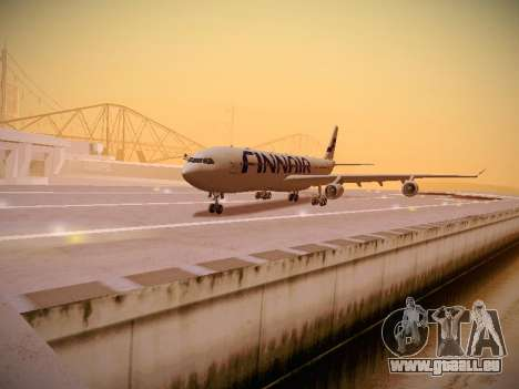 Airbus A340-300 Finnair pour GTA San Andreas laissé vue