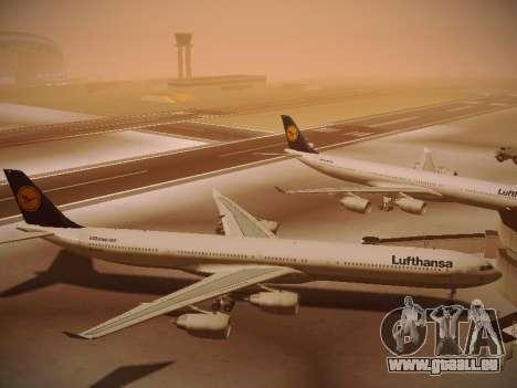 Airbus A340-600 Lufthansa für GTA San Andreas Innenansicht