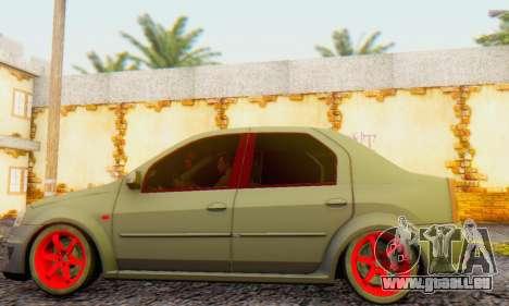 Dacia Logan Turkey Tuning für GTA San Andreas zurück linke Ansicht