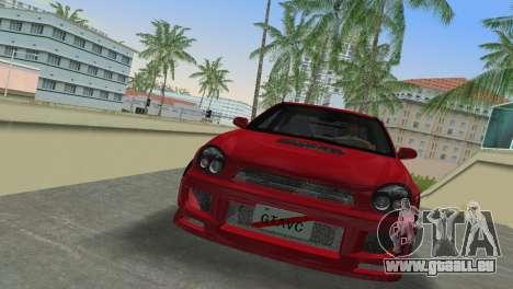 Subaru Impreza WRX 2002 Type 6 pour une vue GTA Vice City de la gauche