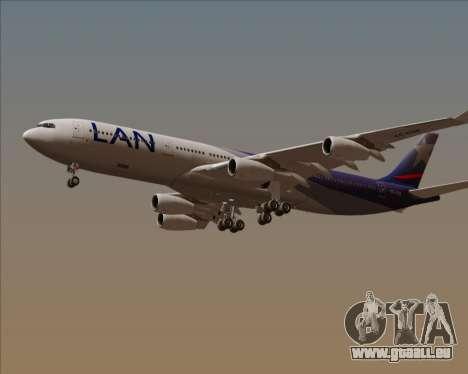 Airbus A340-313 LAN Airlines für GTA San Andreas Seitenansicht