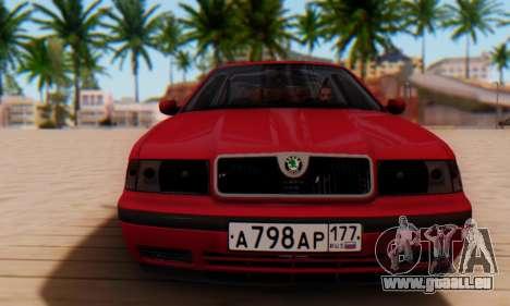 Skoda Octavia pour GTA San Andreas laissé vue
