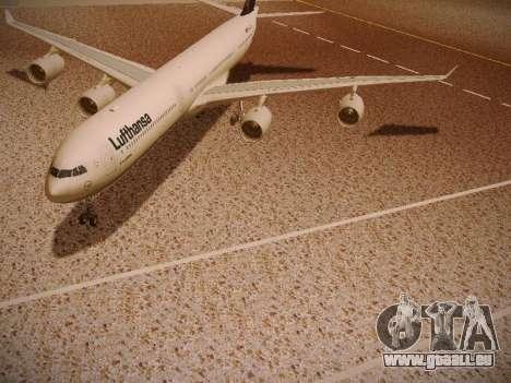 Airbus A340-600 Lufthansa pour GTA San Andreas salon