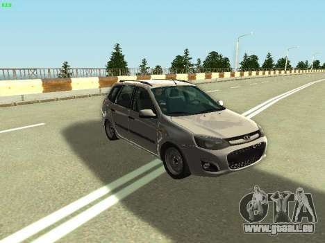 Lada Kalina 2 Wagon pour GTA San Andreas vue de droite