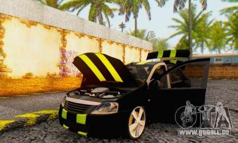 Dacia Logan Black Style pour GTA San Andreas vue intérieure