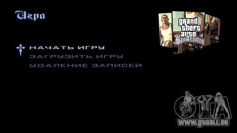HD écran de chargement et de menus pour GTA San Andreas huitième écran