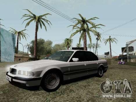 BMW 760i E38 pour GTA San Andreas vue de dessus
