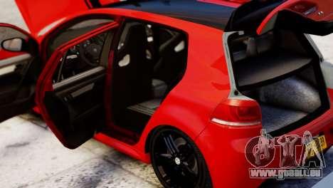 Volkswagen Golf R 2010 Racing Stripes Paintjob für GTA 4 Rückansicht