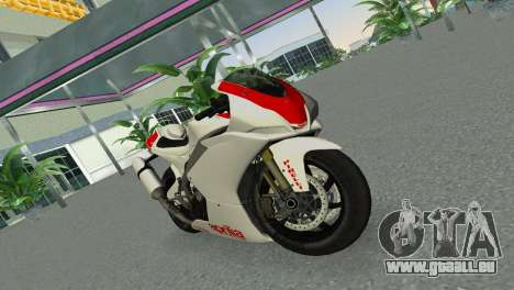 Aprilia RSV4 2009 Gray Edition pour GTA Vice City