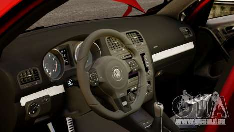 Volkswagen Golf R 2010 Racing Stripes Paintjob für GTA 4 Innenansicht